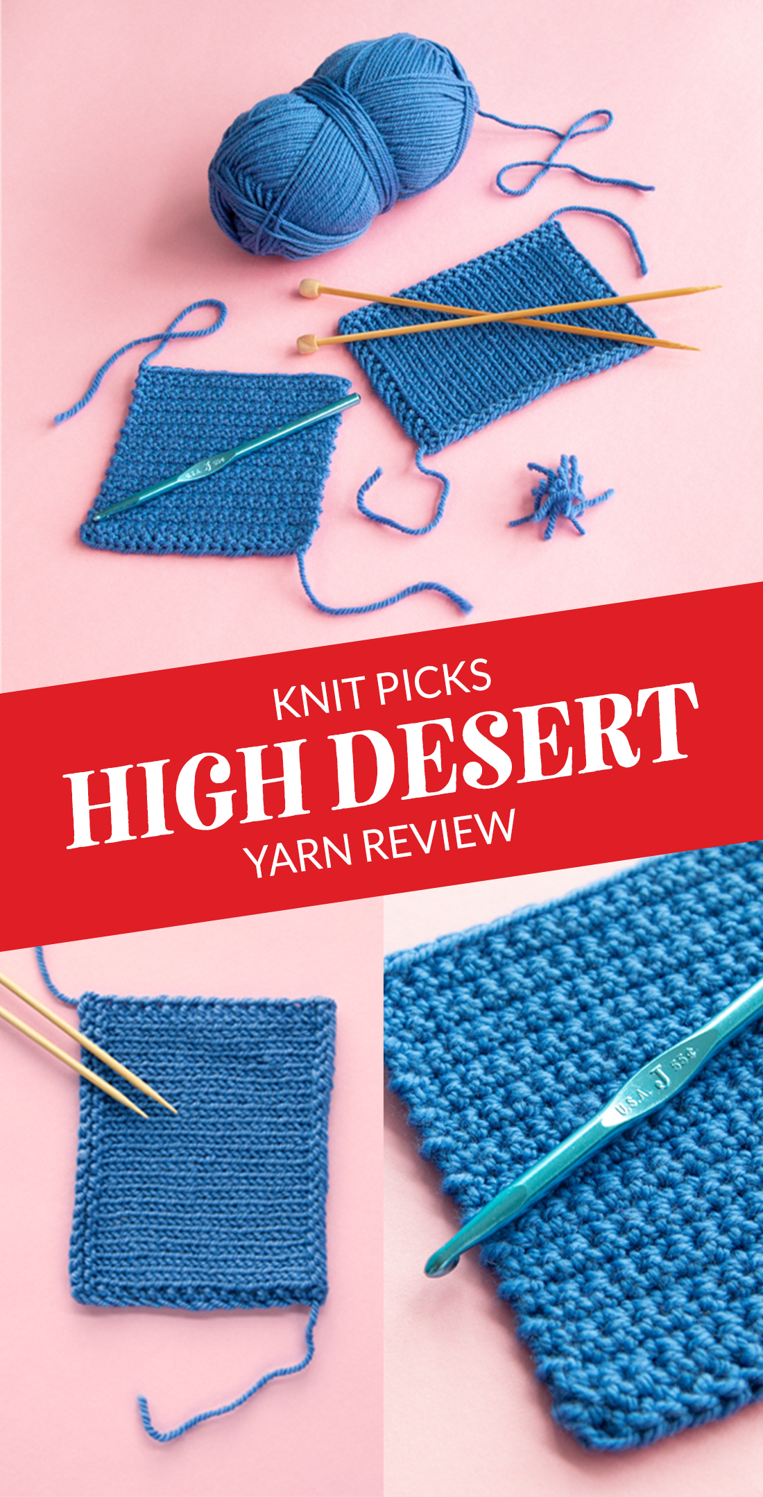 Knit Picks High Desert is a new yarn available in a range of jewel tone colors & two weights. Take a closer look at this versatile yarn that's 100% American from sheep to skein. #KPHighDesert2021 #sponsored