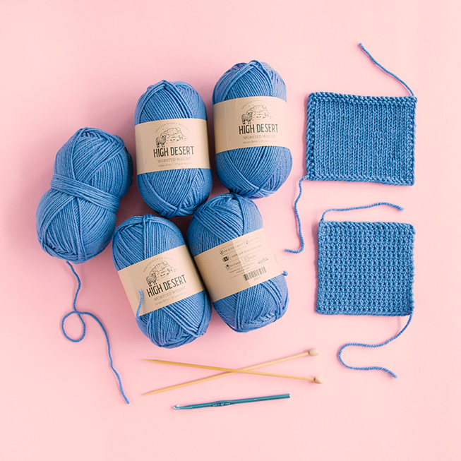 Knit Picks High Desert is a new yarn available in a range of jewel tone colors & two weights. Take a closer look at this versatile yarn that's 100% American from sheep to skein.